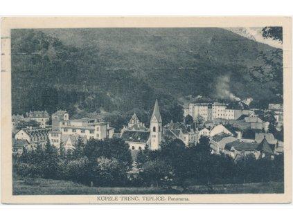 Slovensko, Trenčianské Teplice, Panorama, celkový pohled, cca 1931