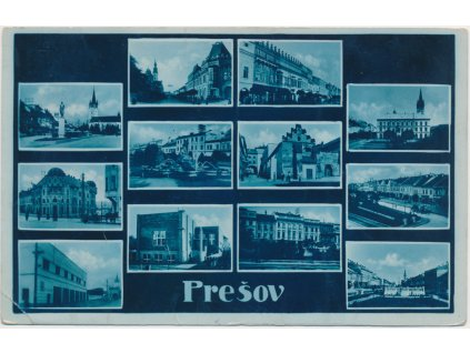 Slovensko, Prešov, 12 - ti záběr dominant města, cca 1938