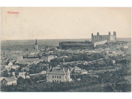 Slovensko, Bratislava - Pozsony, pohled na město, cca 1923