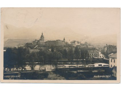 Slovensko, Ružomberok, pohled na město, cca 1925