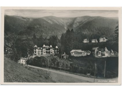 Slovensko, Korytnice - Kúpele, pohled na lázeňskou osadu, cca 1935
