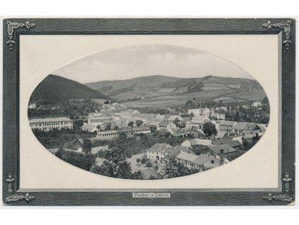 03 - Blansko, Letovice, celkový pohled na město, cca 1912