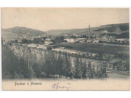 38 - Náchodsko, Hronov, celkový pohled na město, cca 1920