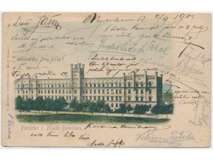 36 - Mladá Boleslav, pohled na kasárna, cca 1901