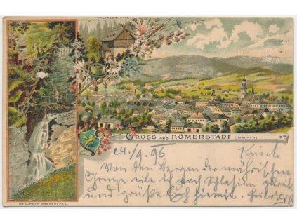 06 - Bruntálsko, Rýmařov(Römerstadt), 3 - záběrová litografie, ca 1896