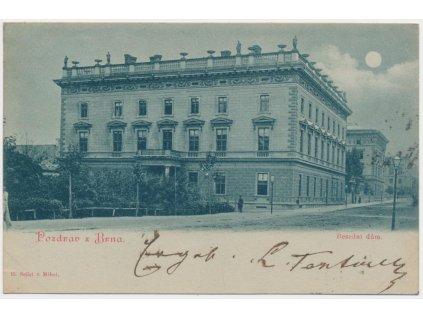 04 - Brno, partie před Besedním domem, cca 1899