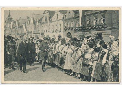 President T.G. Masaryk na návštěvě v Domažlicích 2.5.1923, Foto Vojta