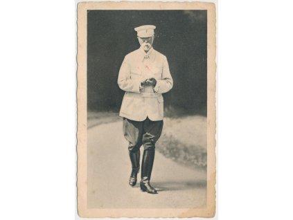 President T.G. Masaryk na procházce v Lánech,foto K. Starosta, ca 1925