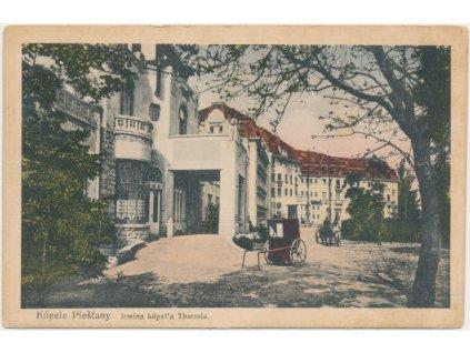 Slovensko, Kúpele Piešťany, Irmina kúpel´a Thermia, cca 1925