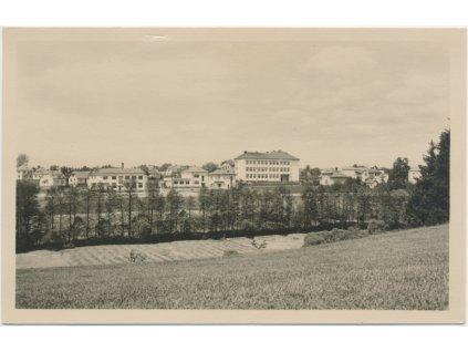 75 - Žďársko, Bystřice nad Pernštejnem, pohled na město, cca 1948