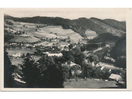 75 - Žďársko, Vír, celkový pohled na obec, Grafo Čuda, cca 1935