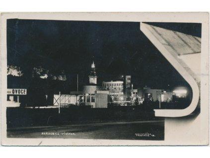 44 - Pardubice, výstava, noční foto, foto Vomáčka, cca 1931