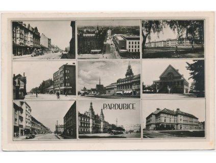 44 - Pardubice, 6 - ti záběr dominant města, Grafo Čuda, cca 1943