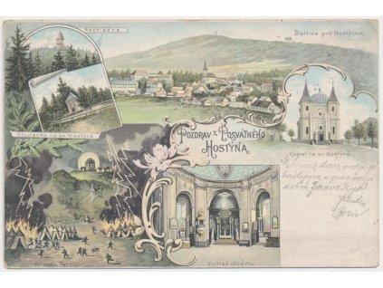 30 - Kroměřížsko, Svatý Hostýn, 6 - ti záběrová koláž dominant, 1899