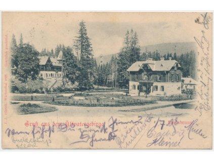 06 - Bruntálsko, Karlova Studánka, horské lázeňské objekty, cca 1898
