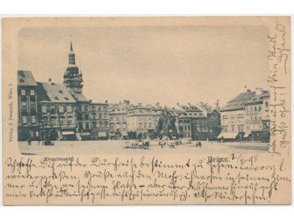 04 - Brno - město, Krautmarkt, oživené náměstí, cca 1898
