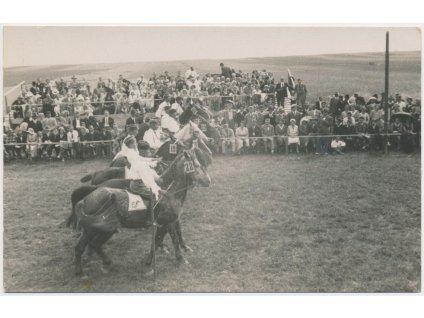 64 - Tábor, Selská jízda, koně, diváci, foto Šechtl a Voceček