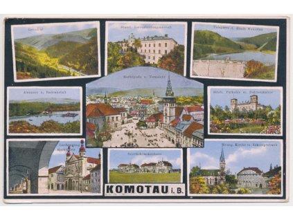 09 - Chomutov, 9 - ti záběr dominant města, celkový pohled, kostel...