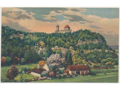 35 - Mělnicko , Hrad Kokořín, partie z Kokořínského údolí, cca 1920