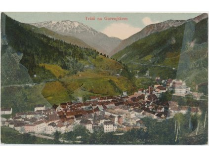 Slovinsko, Tržič na Gorenjskem, celkový pohled, cca 1908