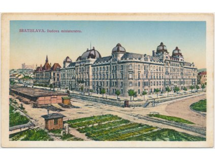 Slovensko, Bratislava, Budova ministerstva, cca 1935