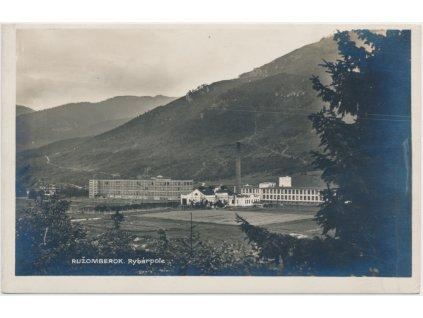 Slovensko, Ružomberok, Rybárpole, továrna Texicom, cca 1928