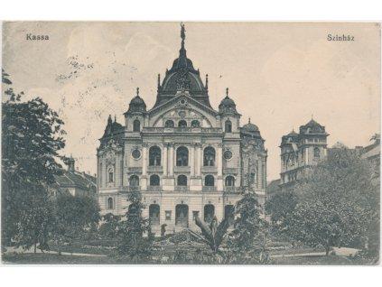 Slovensko, Košice - Kassa, Státní divadlo, Szinház, cca 1912
