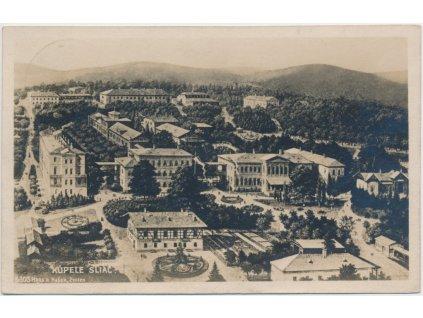 Slovensko, Kúpele Sliač, celkový pohled, cca 1922