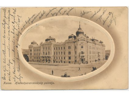 Slovensko, Košice, Hadtestparancsnokság palotája, Velitelský palác, 1915