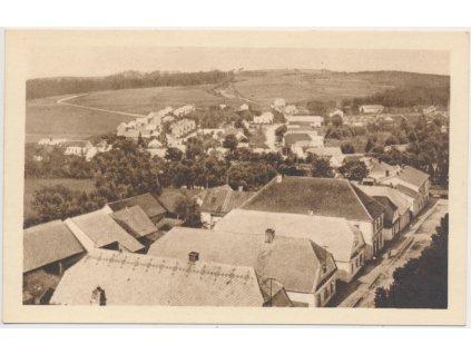 10 - Chrudimsko, Trhová Kamenice, celkový pohled, cca 1940
