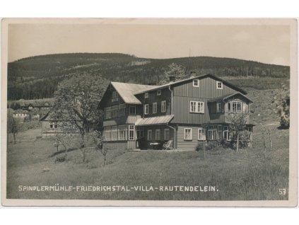 66 - Trutnovsko, Špindlerův Mlýn, Villa Rautendelein, cca 1931