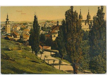67 - Třebíč, pohled na město se zámkem, cca 1908
