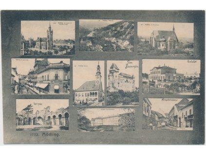 Rakousko, Modling, 9 - ti záběr dominant města, cca 1900