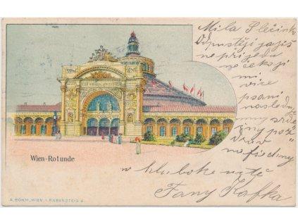Rakousko - Wien, Rotunde, Budova světového veletrhu, cca 1900