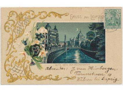 Německo, Leipzig, Blick nach dem Reichsgericht, cca 1901