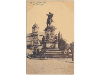 40 - Nymbursko, Lázně Poděbrady, pomník krále Jiřího, cca 1917