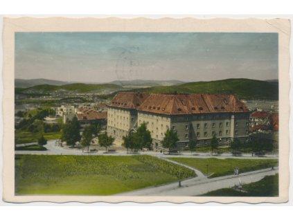 04 - Brno - město, pohled na Kounicovy koleje, cca 1950