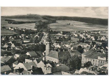 15 - Domažlice, celkový pohled na město, cca 1955