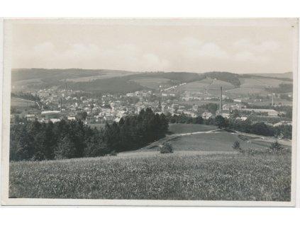 38 - Náchodsko, Hronov, celkový pohled, Grafo Čuda, cca 1945