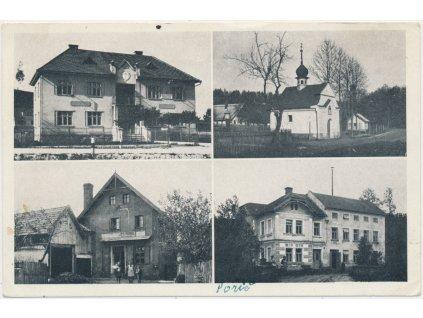 61 - Svitavsko, Poříčí, 4 - záběr dominant obce, cca 1950