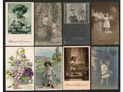 Partie 12 - ti ks blahopřejných námětových pohlednic, cca 1900 - 1920