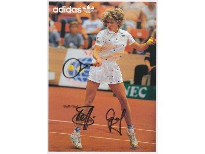 Graf Steffi (1969), tenistka, pohlednice s vlastnoručním podpisem
