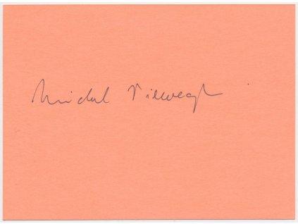 Viewegh Michal (1962), čs. spisovatel, karta s vlastnoručním podpisem