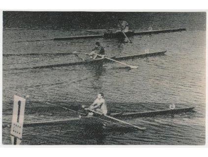 Kozák Václav (1937-2004), veslař, oficiální foto ČTK z OH v Tokiu 1964