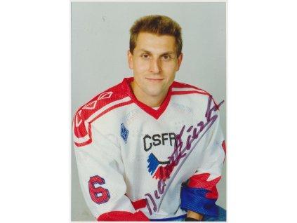Ščerban Bedřich (1964), hokejista, fotografie s vlastnoručním podpisem