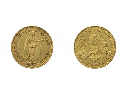 F. Josef I., 10 Korun, 1906 ,K.B., AU, 0,900, váha 3,387 gramu