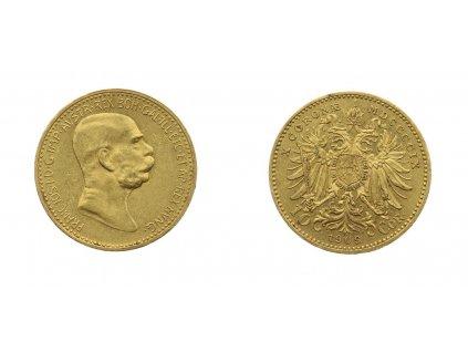 F. Josef I., 10 Korun, 1909, AU, 0,900, váha 3,387 gramu