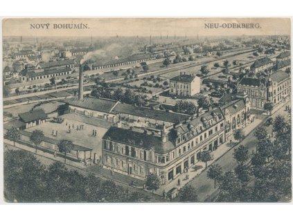 26 - Karvinsko, Nový Bohumín, celkový pohled na město, cca 1926