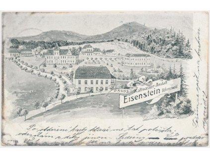 28 - Klatovsko, Železná Ruda, Eisenstein, pohled na město, cca 1902