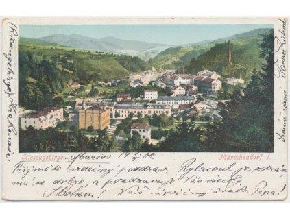 66 - Trutnovsko, Horní Maršov - Marschendorf, celkový pohled, cca 1903